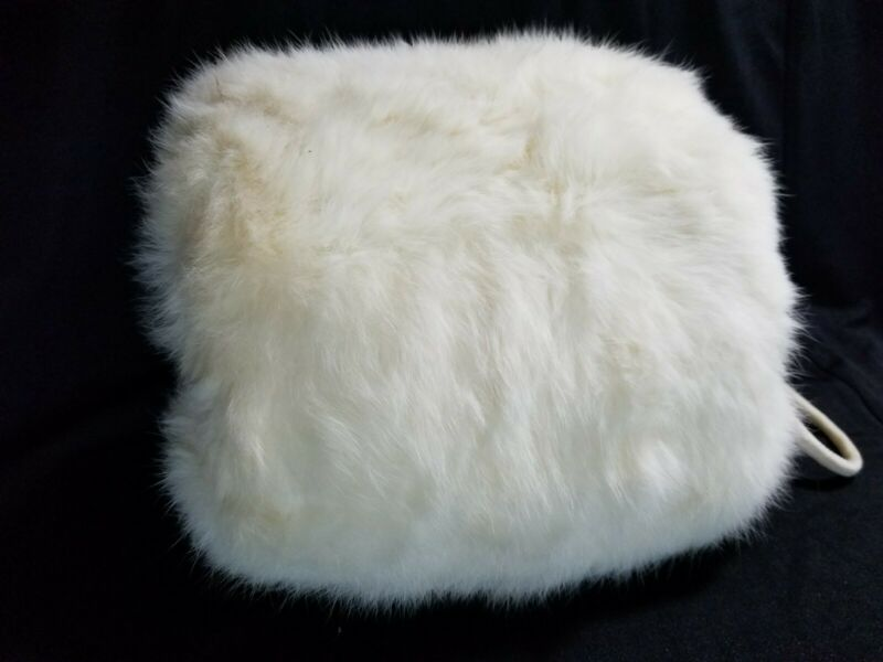 Rabbit Fur Muff With Wrist Strap Vintage Adult Size