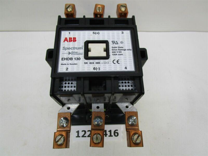 New ABB EHDB 130 Spectrum Contactor 3 Pole 1NC 2NO 600 VAC 130 Amp 120 VAC Coil