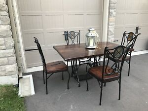 Antique Custom table and chairs from Wormy Maple