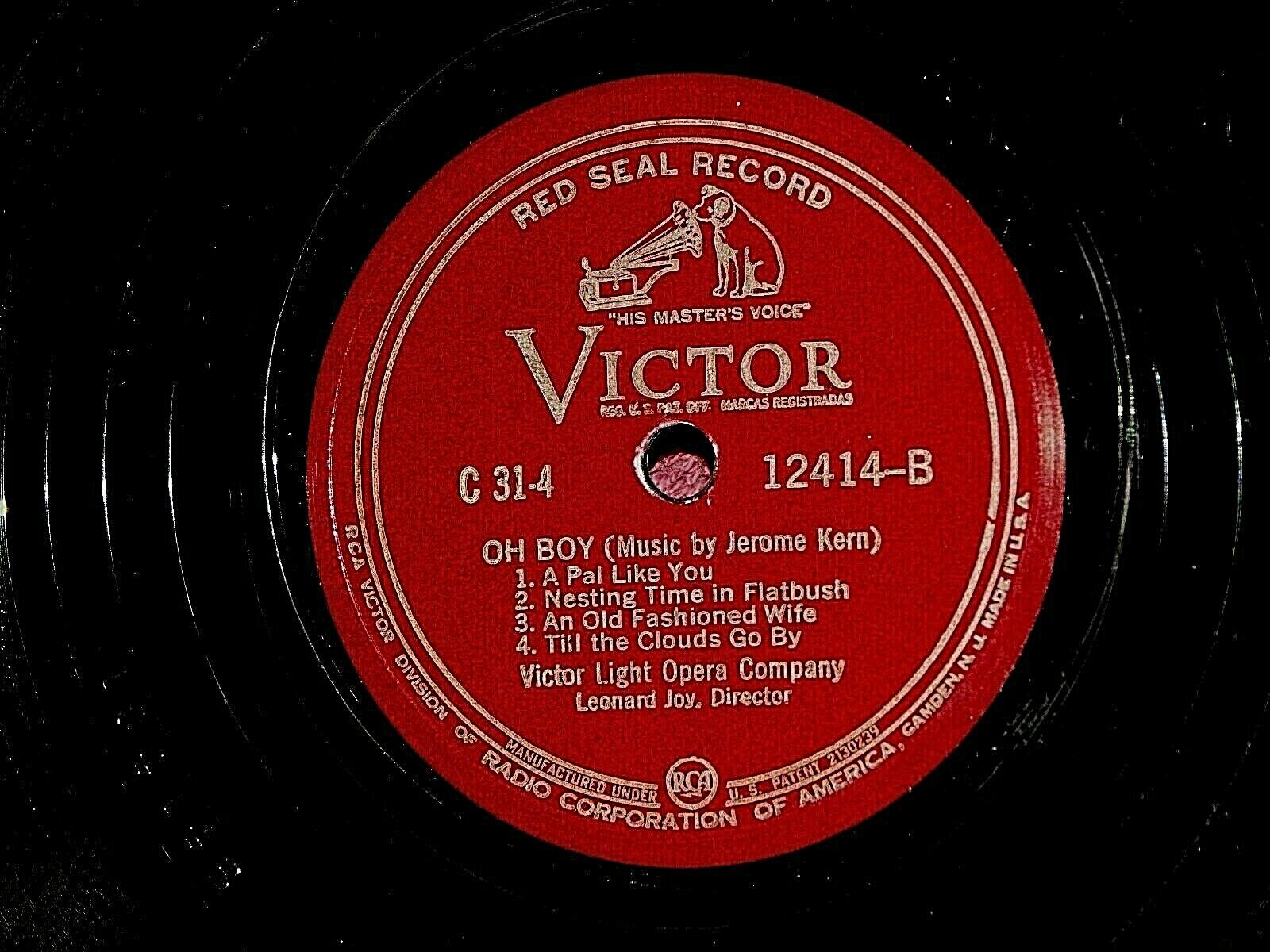 Jerome Kern Leave It To Jane 12414 PLAY GRADED FULLY TESTED Replacement C-31 D2 - $19.99