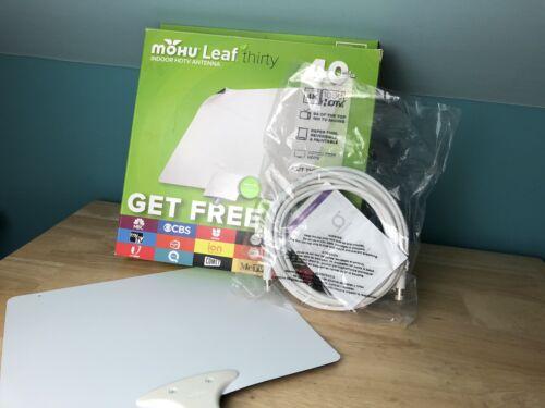Leaf 30 TV Antenna Indoor 40 Mile Range Reversible, Paintabl
