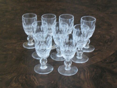 VINTAGE CUT CRYSTAL  GLASS 1 OZ WINE -. LIQUOR  AFTER DINNER DRINK  SET OF 9