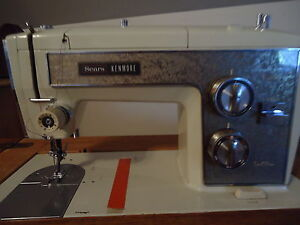 Sears Kenmore Electric Sewing Machine in Vintage Antique ...