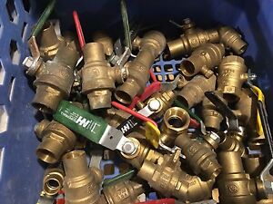Ball valves plumbing gas threaded solder sweat hose bibb Cambridge Kitchener Area image 1