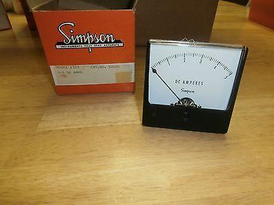 Simpson Model 1327 Cat 02680 Analog 0-5 Dc Amps Panel Meternibnos
