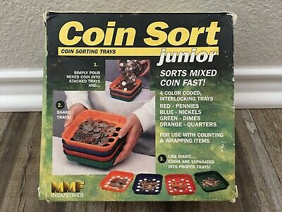Coin Sorting Trays Set Of 4 Kwik-sort Coin Sort Jr By Mmf Industries