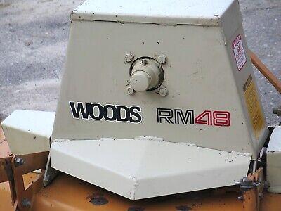 Woods Rm48 Finish Mower Brush Hog 3 Pt Cutter Kubota Jd Land Pride King Kutter