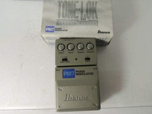 Ibanez Tonelok PM7 Phase Modulator Phaser Mod Effects Pedal Free USA Shipping