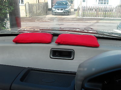 VEHICLE/CAR/HOME REUSABLE DEHUMIDIFIER BAG MOISTURE ABSORBER  2x MEDIUM RED