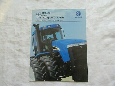 2003 New Holland Tj Series 275 To 500 Hp Tractors Brochure