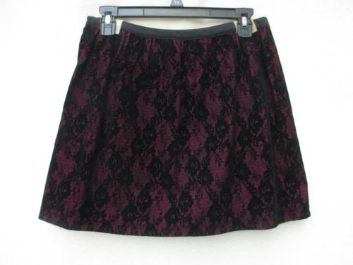 New *KC PARKER*  Lined  HOLIDAY * PARTY LACE SKIRT  Black/Purple  GIRL