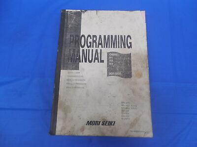 Mori Seiki Machine Cnc Mill Programming Manual Pm-mhmsc516.8 Mh Sh M Msc Msd