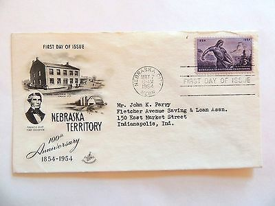 "May 7th, 1954 Centennial of ""Nebraska Territory Statehood"" First Day Issue"