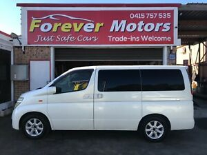2003 NISSAN ELGRAND 4X4 AUTOMATIC 8 SEATER Long Jetty Wyong Area Preview
