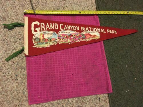Vintage - ANTIQUE Souvenir Pennant GRAND CANYON NATIONAL PARK AZ Hopi House