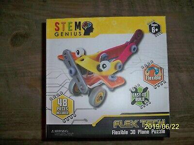 BRAND NEW! Stem Genius Flex Tech Flexible 3D Plane Puzzle, 48 (Flexible Steel Sheet)