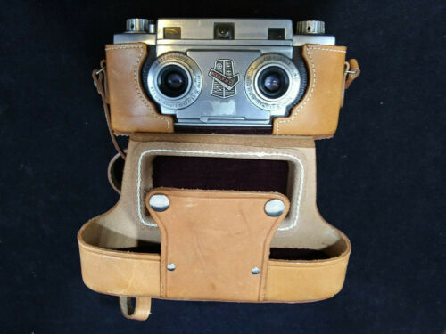 Revere Stereo 33 35mm Film Camera w Wollensak Amaton F3.5 Lens, #17524 - VINTAGE