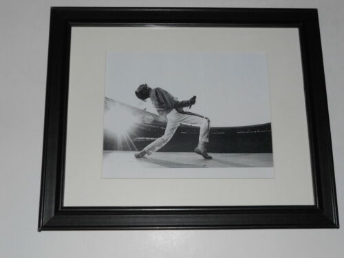 """Large Framed Queen Freddie Mercury 1986 on Stage Wembley Poster 24"""" x 20"""""""