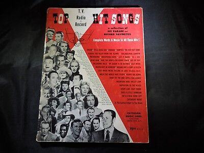 TOP T.V., RADIO AND RECORD HIT SONGS FROM 1952.
