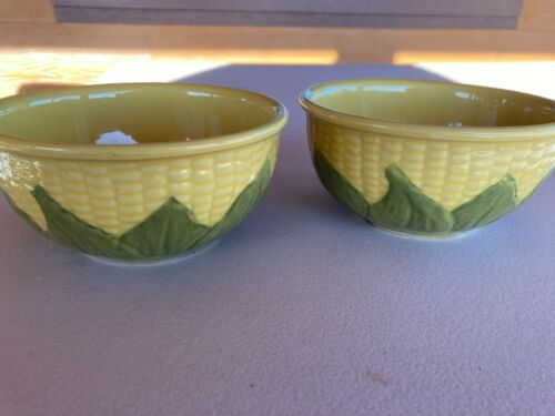 Vintage Shawnee Pottery Corn King  #6 Mixing Bowls Set of 2