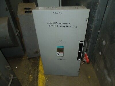 Siemens Dtnf324 200a 3p 240vac Double Throw Non-fusible Manual Transfer Switch