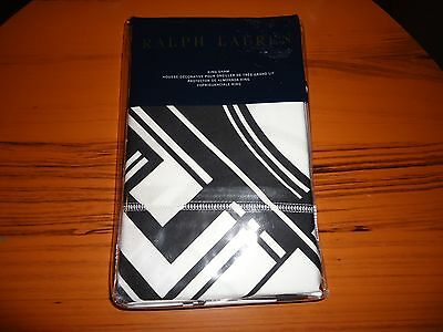 Ralph Lauren Ellington Deco Black White King Sham NIP Ret $145