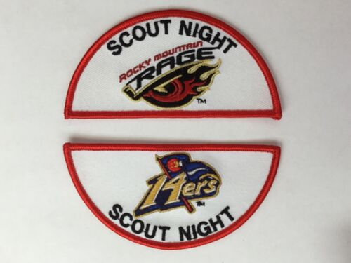 Colorado 14ers Basketball Scout Night Rocky Mountain Rage pocket patches