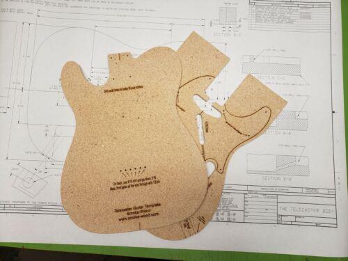 Telecaster Guitar Router Template CNC/Laser Cut w/Blueprints