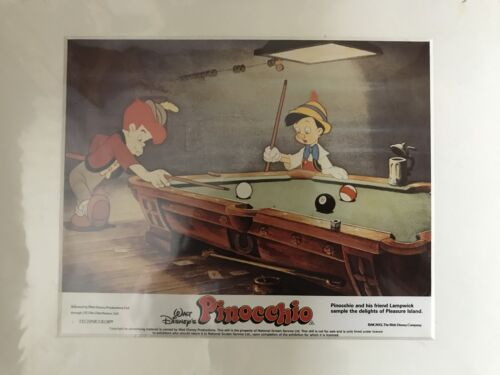 Pinocchio - Walt Disney - Original Mounted Lobby Card 4