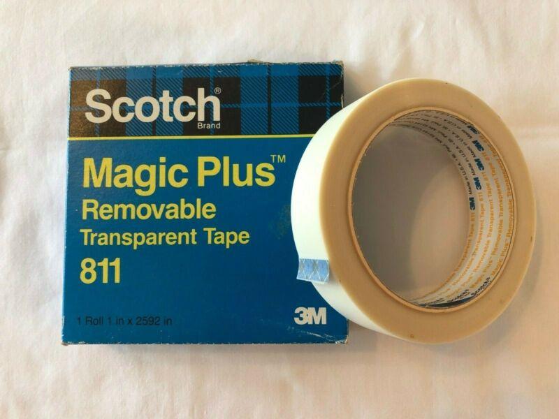 """Scotch Removable Transparent Tape 811- 1"""" x 2592"""", 3"""" Core"""