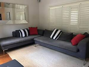 2 x  Italian Chaise Lounge Charcoal Sofas Woollahra Eastern Suburbs Preview