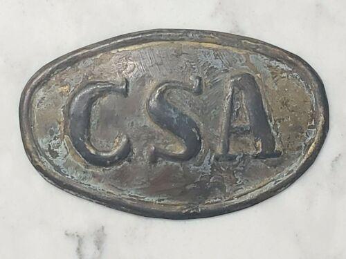 Vintage Civil War Confederate CSA Crate Buckle Plate Brass