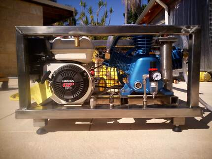 Hookah dive compressor breathing air confined air supply
