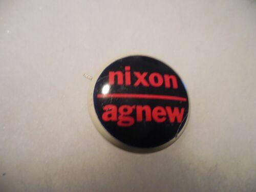 Richard Nixon Pin Back Presidential Campaign Button Political 1968 Spiro Agnew