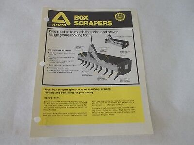 Arps Box Scrapers Brochure
