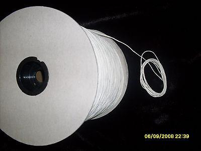 Square Braided 100% Cotton wick 6/0, 4/0,  #2, #4, #6