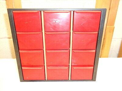 Vintage Akro Mils 12 Drawer Metal Storage Bin10 X 9 X 6