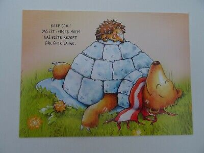 GRAFIK WERKSTATT Kleine Wunder Karte Postkarte Inga Maria Blinde Humor 11