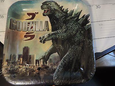 Godzilla 9 in Paper Plates (8ct)