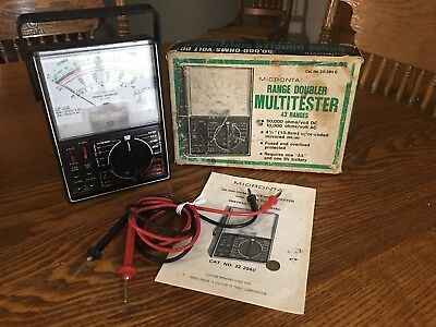 Vtg Micronta 22-204a Multitester Range Doubler Meter Radio Shack W Box Manual