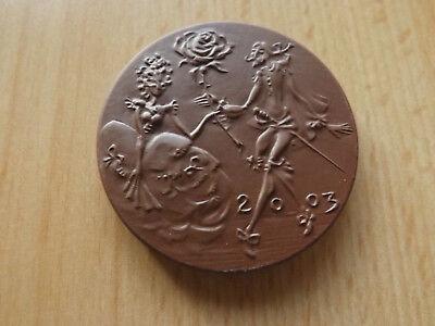 *Meissen* Porzellan Medaille* Tag der offenen Tür 2003 *ca,53mm(14)