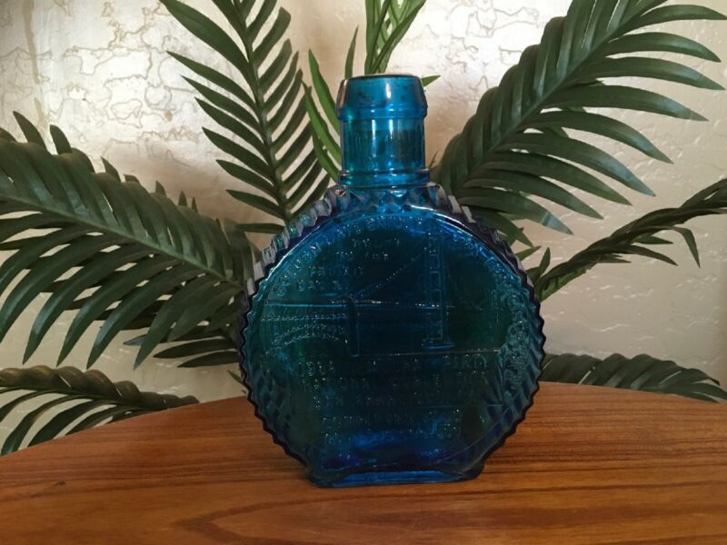 *Rare* Clevenger Brothers, San Francisco Democratic Convention Blue Glass Bottle