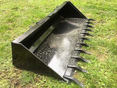 New Heavy Duty 84 Skid Steer Bucket Teeth-7 - Fits Bobcat Cat Case Etc