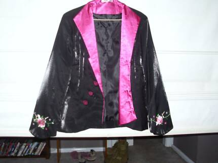 Black and Pink Satin Jacket Queanbeyan Area Preview