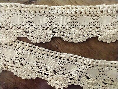 Lamp Trim 1920s *BY the HALF YARD* French Lace Antique Black Satin  Ribbon Costumes Hat Band