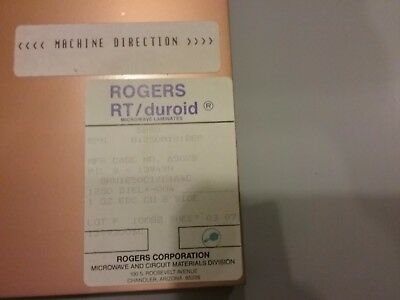 22 sheets, Rogers H.Frequency Laminates RT/duroid   1 oz. Double sided