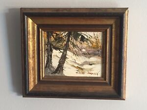 BEAUTIFUL SMALL JOSEPH PURCELL OIL PAINTING SACKVILLE RIVER