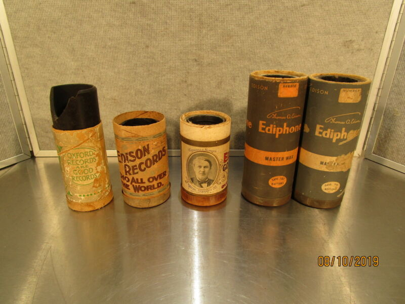 Vintage Edison Cylinder Tube Records with Tubes Parts or Repair