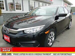 2017 Honda Civic Sedan you're approved $76.25 a week tax inc. LX