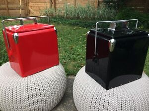 Vintage coolers -red and black